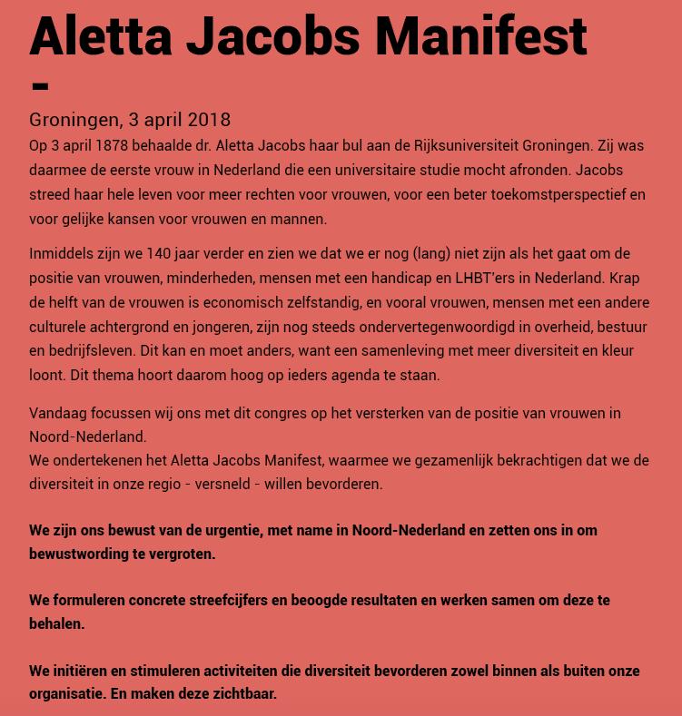aletta manifest